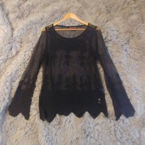 Lace flare sleve top